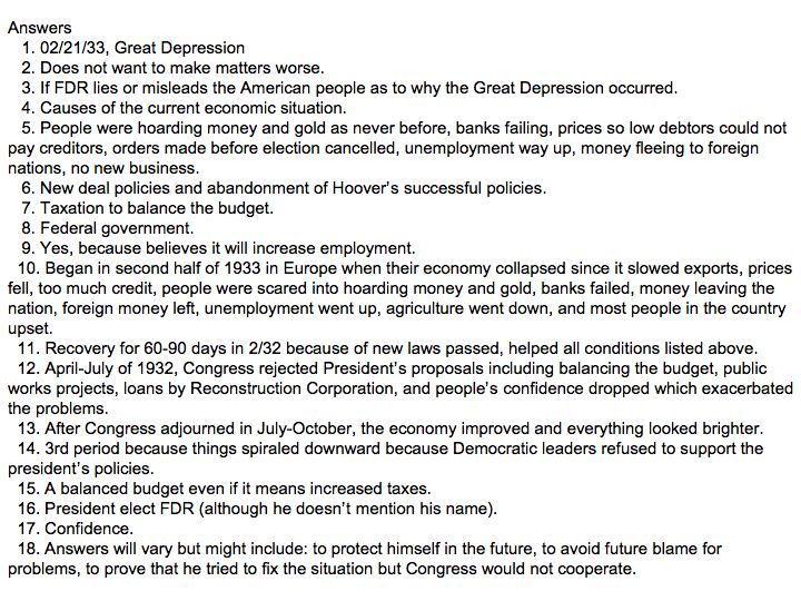 causes of the Great Depression | Social Studies and History ...