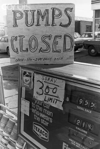 gas pumps closed