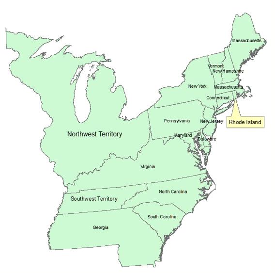 United States Map 1790