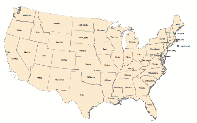 map usa states test - 28 images - usa abbreviations map list of ...