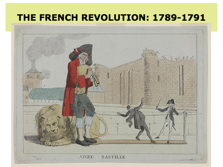Analysing the origins of the french revolution in the 18th century
