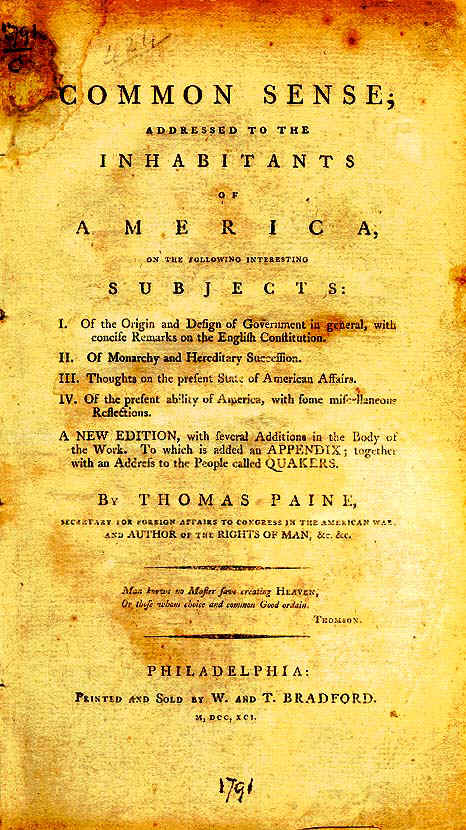 common sense by thomas paine social studies and history  one