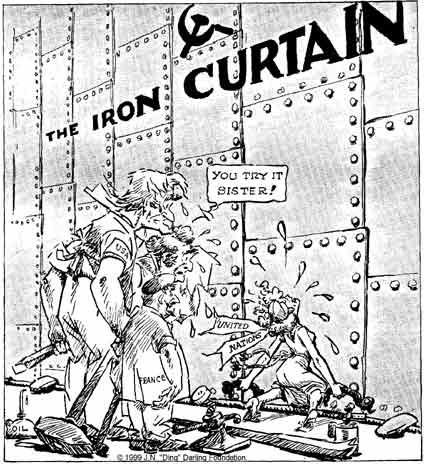 Charming Cold War Cartoon On Iron Curtain | Social Studies And History Teacheru0027s Blog
