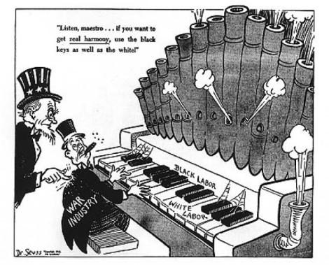 Dr Seuss blk wht labor
