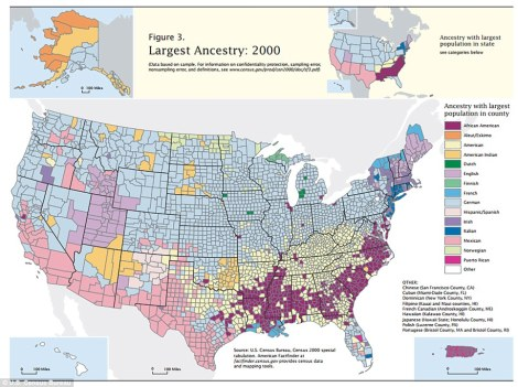 Ancestry map Census